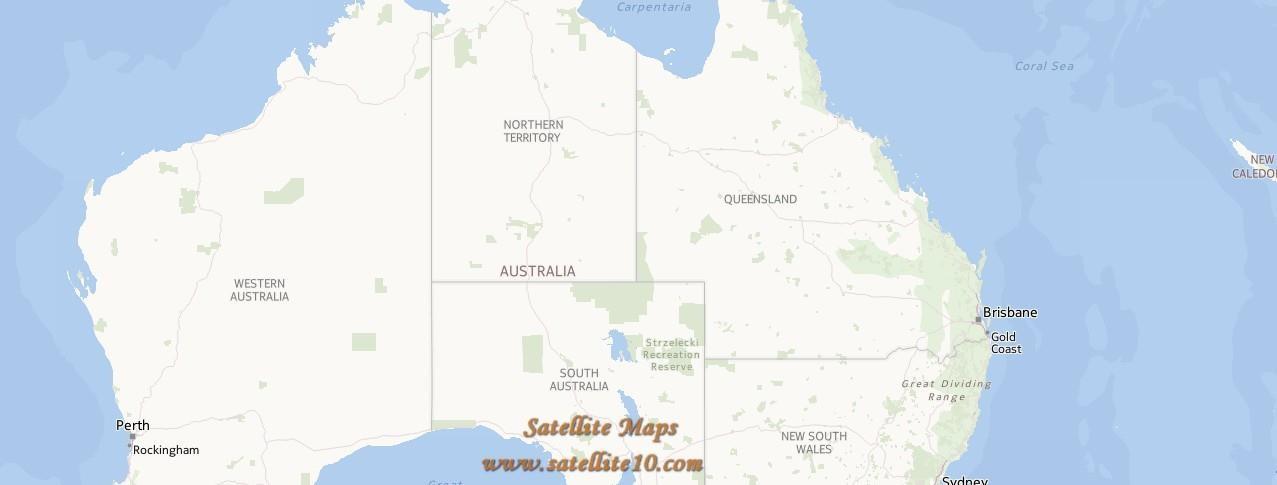 queensland satellite map - Australia Maps - Map Pictures
