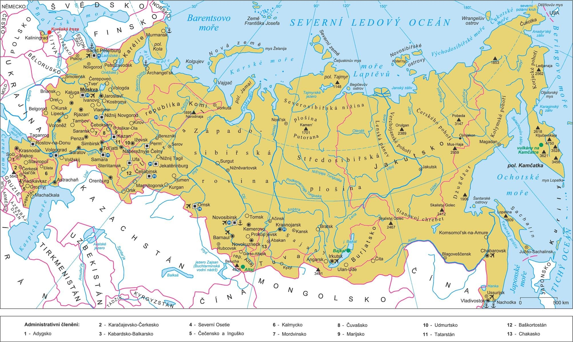 Russia Map Map Pictures
