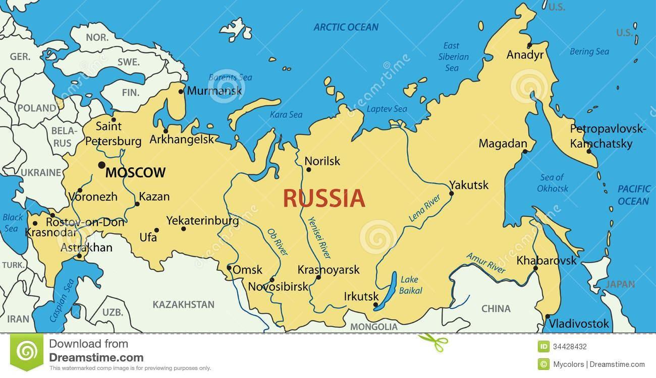 Rusland Kaart 34428432 Jpg Map Pictures
