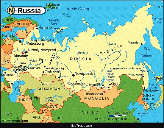 russia map mapjpg Map Pictures