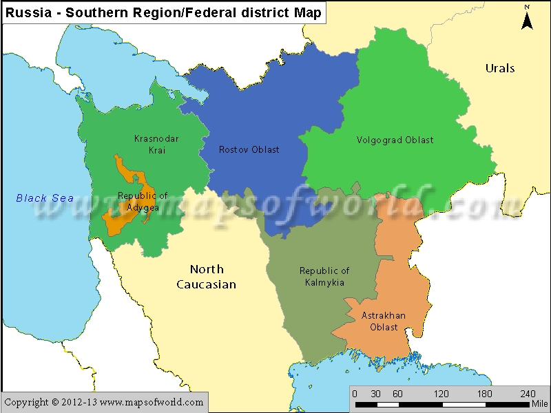 Russia Southern Region Map Jpg Map Pictures
