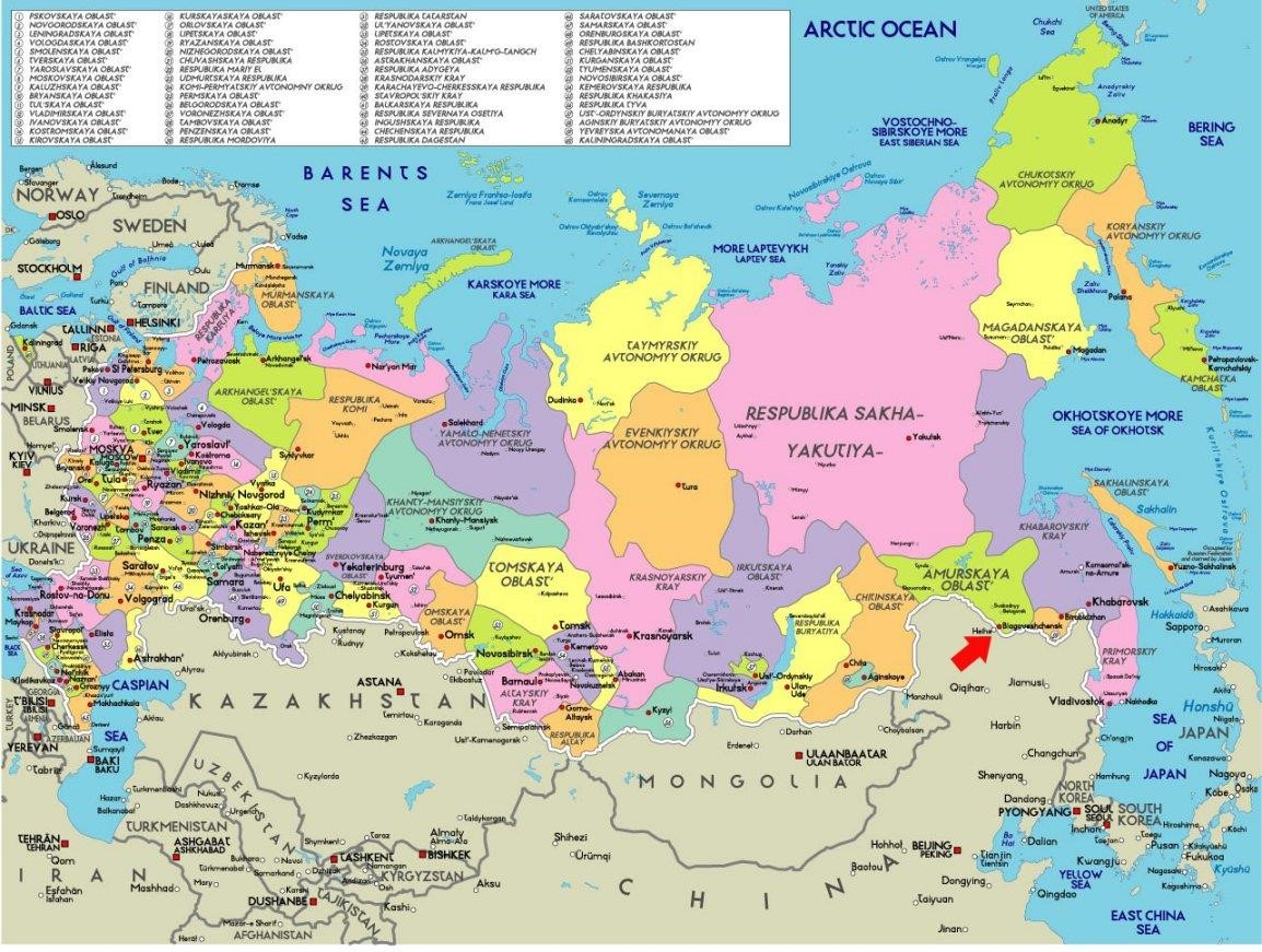 Map Of Russian Cities - Russian map