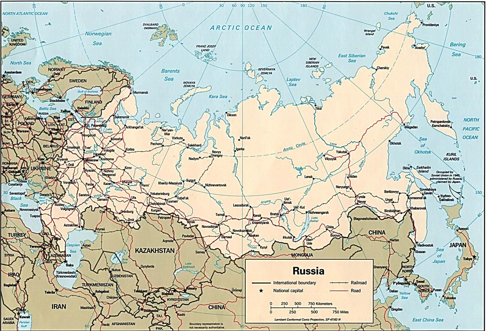 map of russian cities