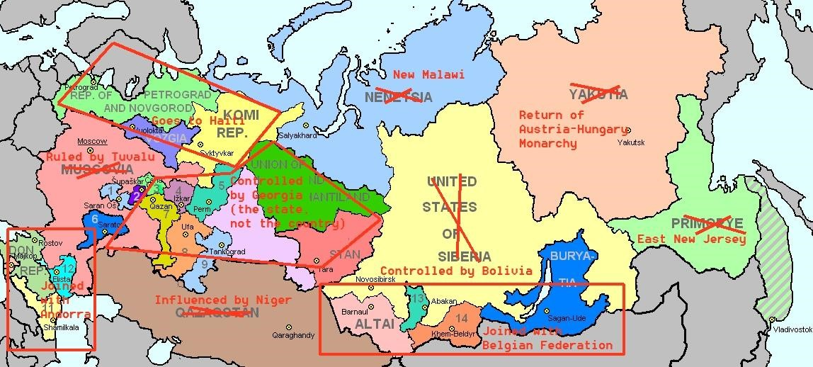 Russianmapjpg - Maps of the states