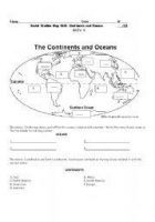 Continents oceans worksheets world maps map pictures continents oceans worksheets gumiabroncs Images