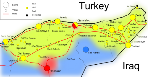 map of al hassakah