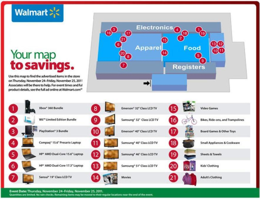 Black friday map walmart black friday map gumiabroncs Gallery