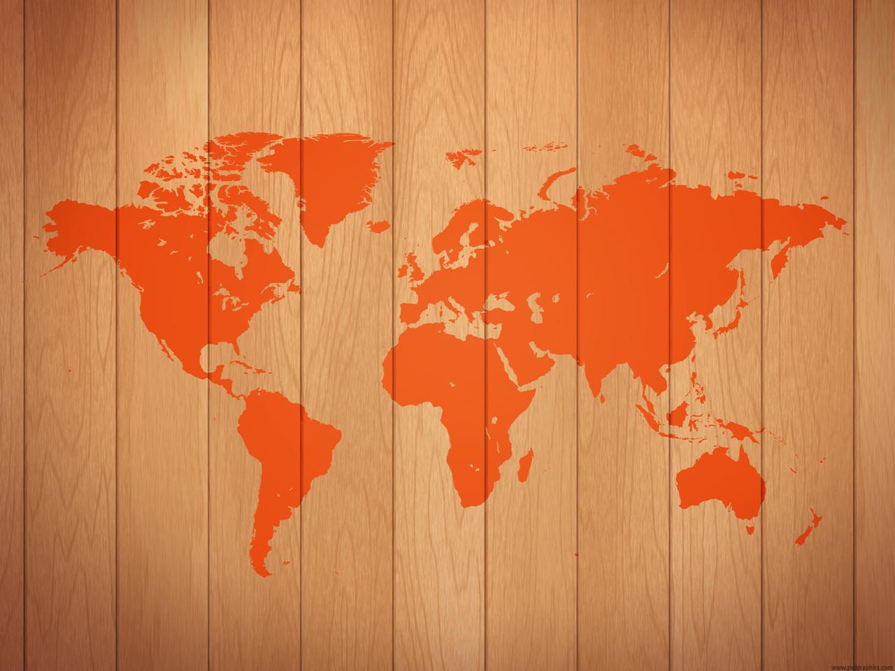 big red grey worldmap