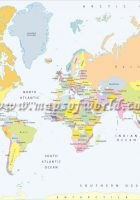 A World Map Printable Free - A3 printable world map