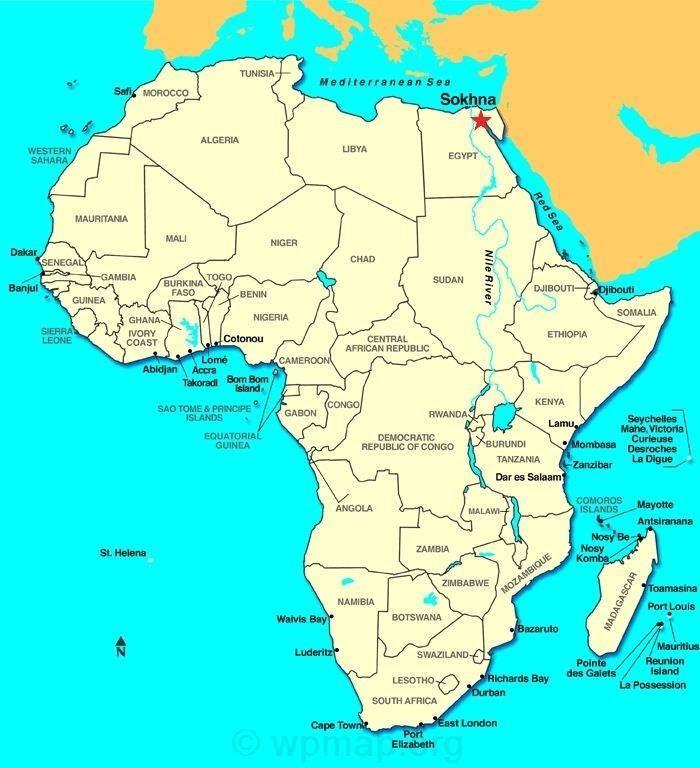 cairo egypt africa map