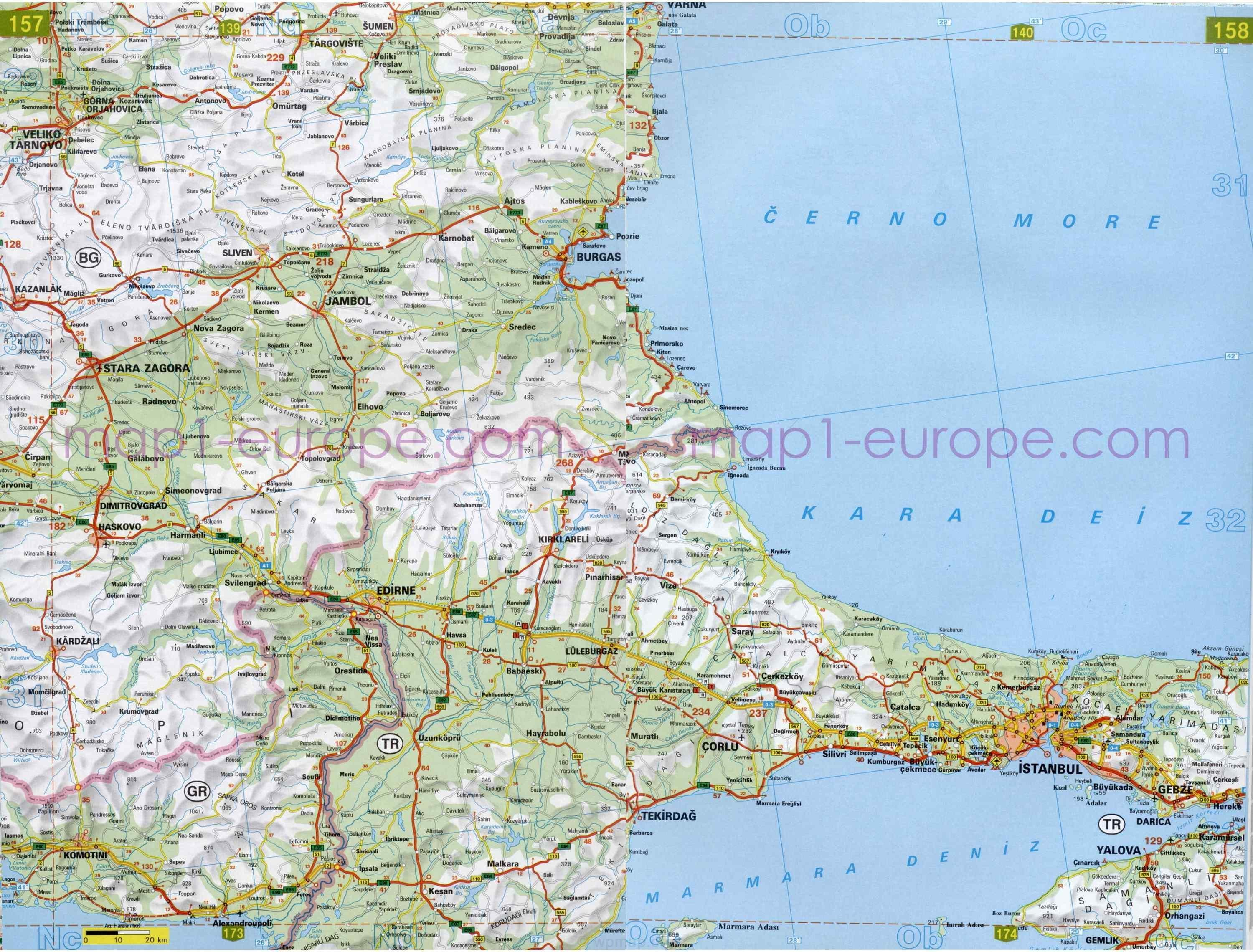 ... europe maps tags turkey tourist highway map turkey detailed map road