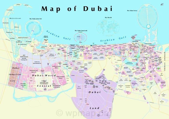 Dubai Map Map Pictures