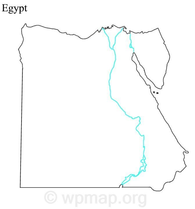 Blank Map of Egypt