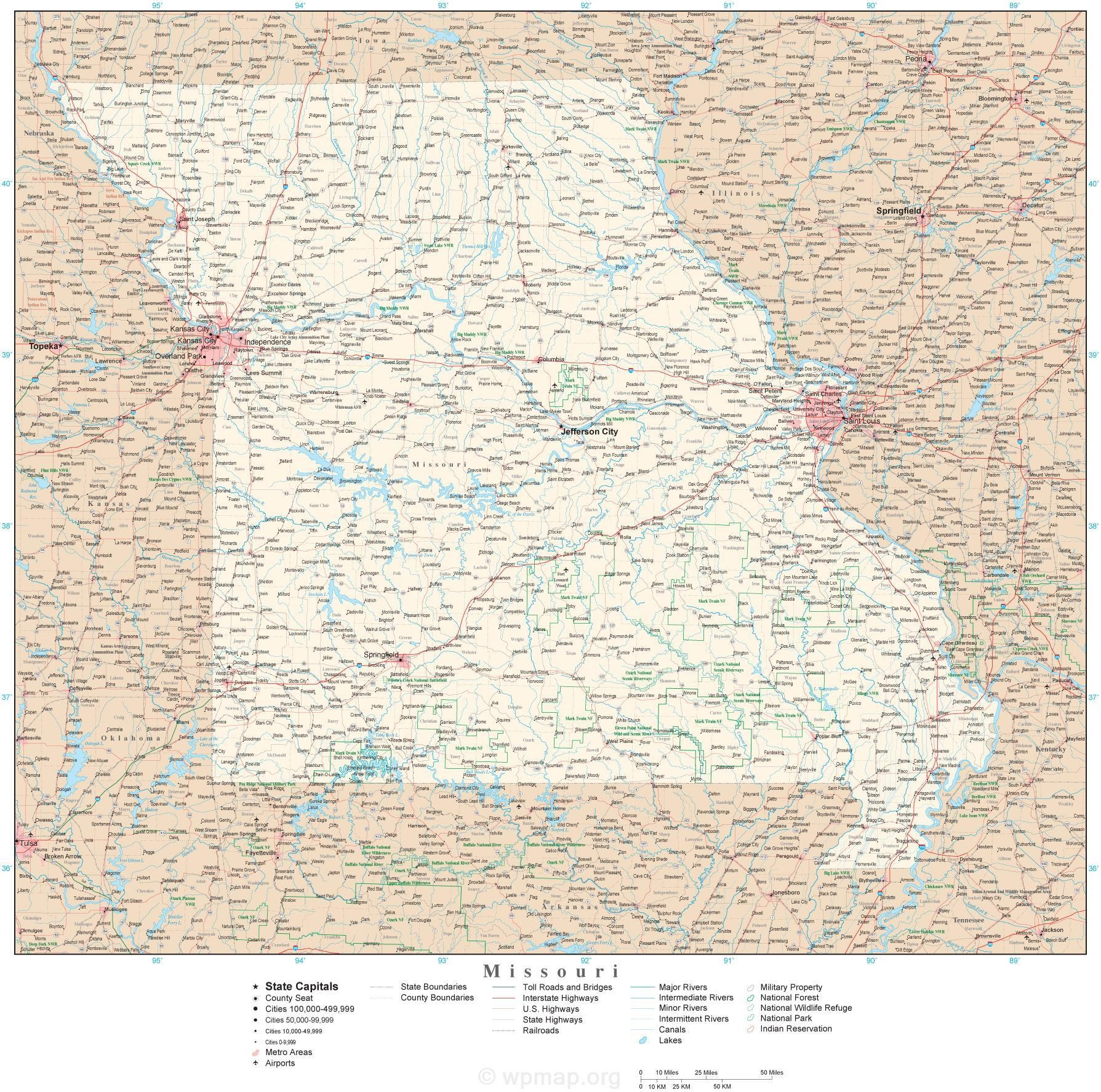 map of missouri map pictures
