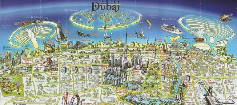 map dubai   map pictures