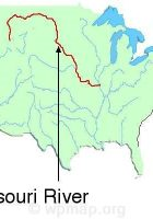 Map Of Missouri River Missouri Rivers On A Map Missouri River Map - Missouri river map