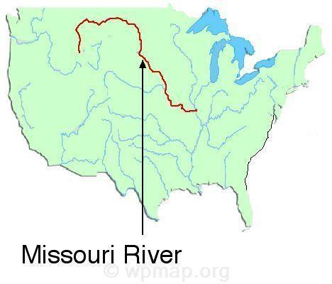Map Of Missouri River Missouri Rivers On A Map Missouri River Map - Us-map-missouri-river