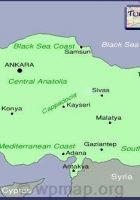 Turkey Map Regions Cities
