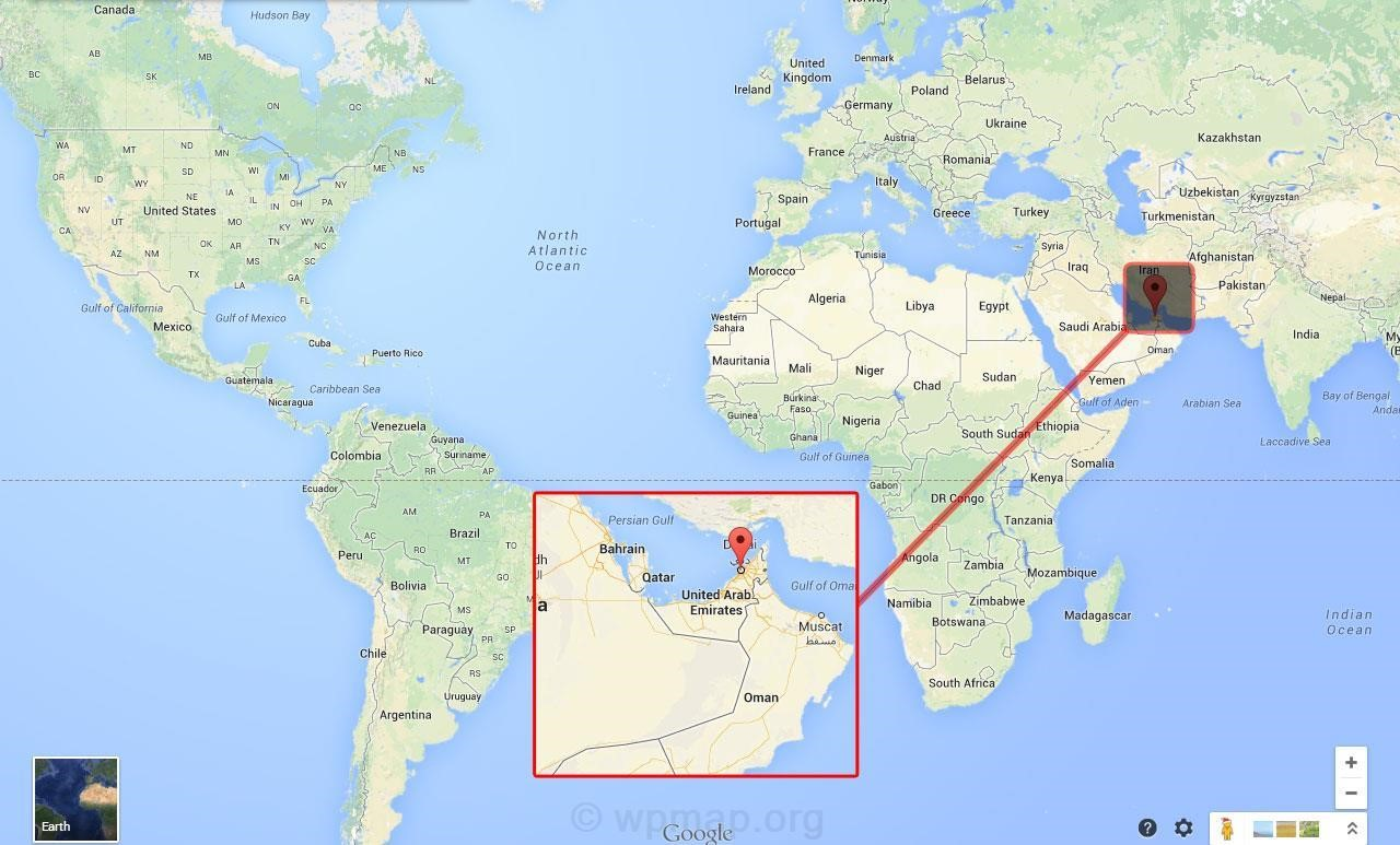 Where Is Dubai Located Map Map Pictures - Where is bahrain