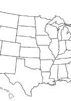 america lineart map blank