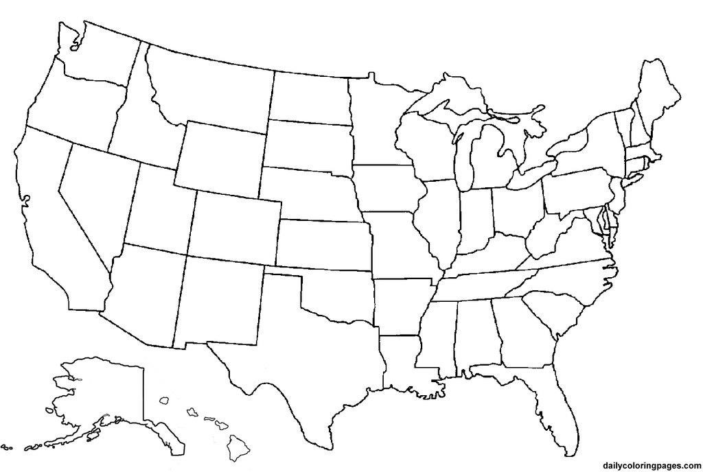 america lineart map blank   Map Pictures