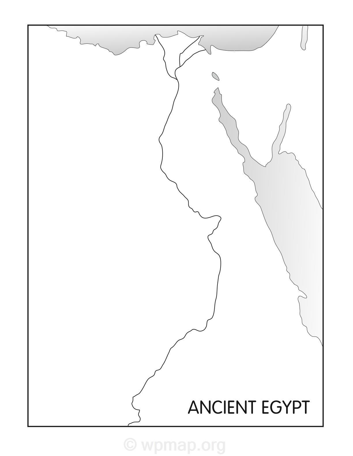 outline map of egypt