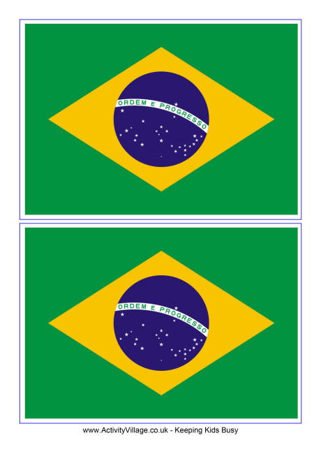 Brazil Flag Printable Coloring