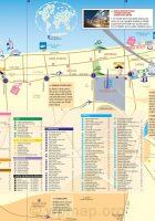 map of dubai - dubai map google earth - road map of dubai - United Dubai Map Tourist Attractions on