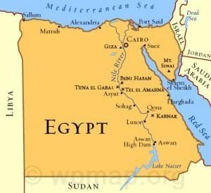 egypt country map - Map Pictures