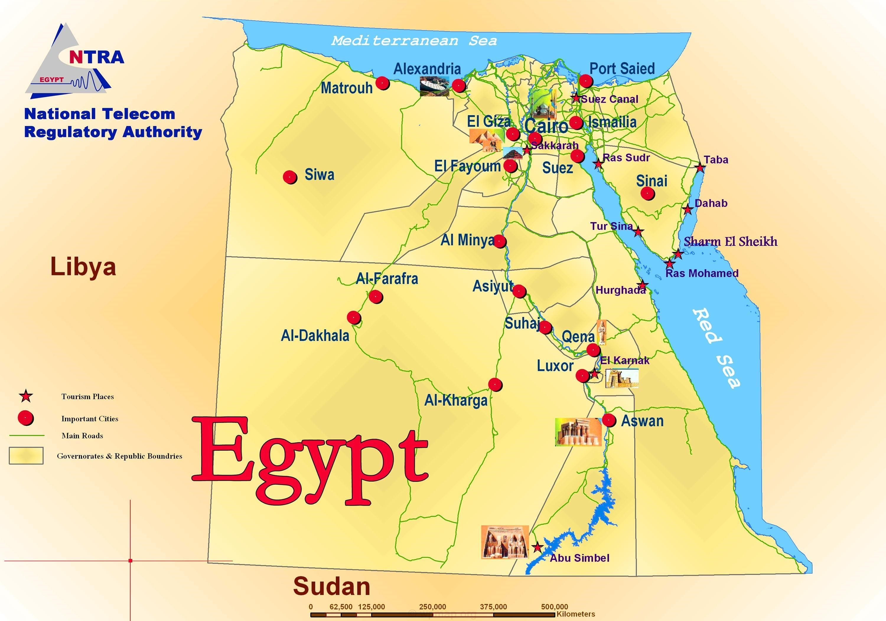 egypt-political-and-tourist-map