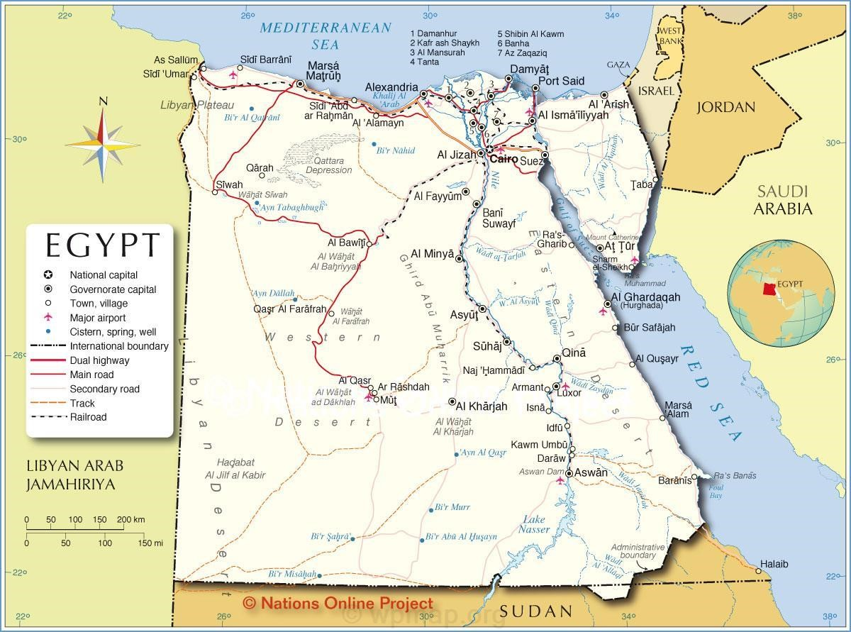 Political Map of Egypt