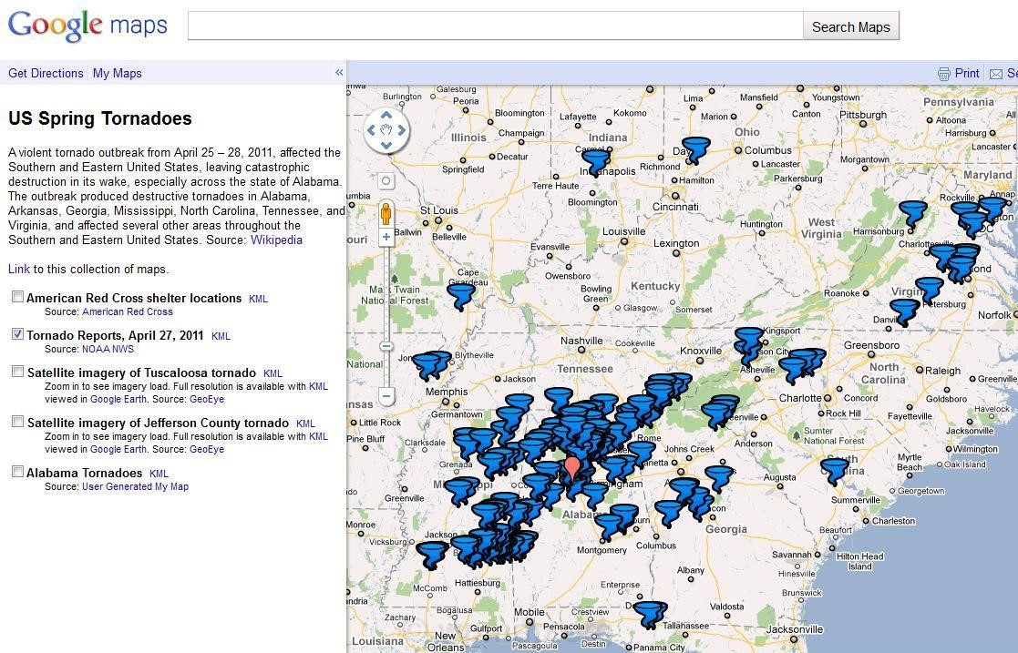 Google Tornado Maps Map Pictures