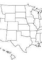 usa map blank