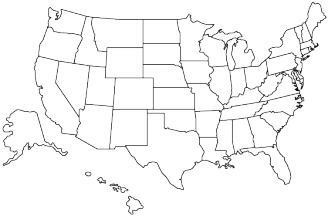 Blank Map of America - Printable Us Map With Cities - Blank ...