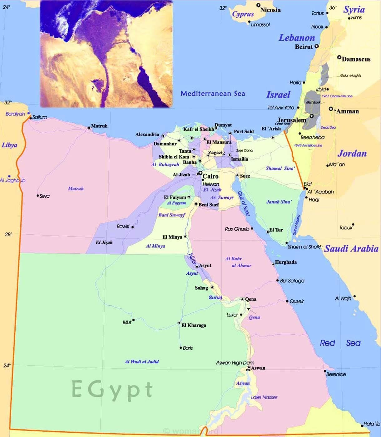 Egypt Maps Map Pictures - Where is egypt