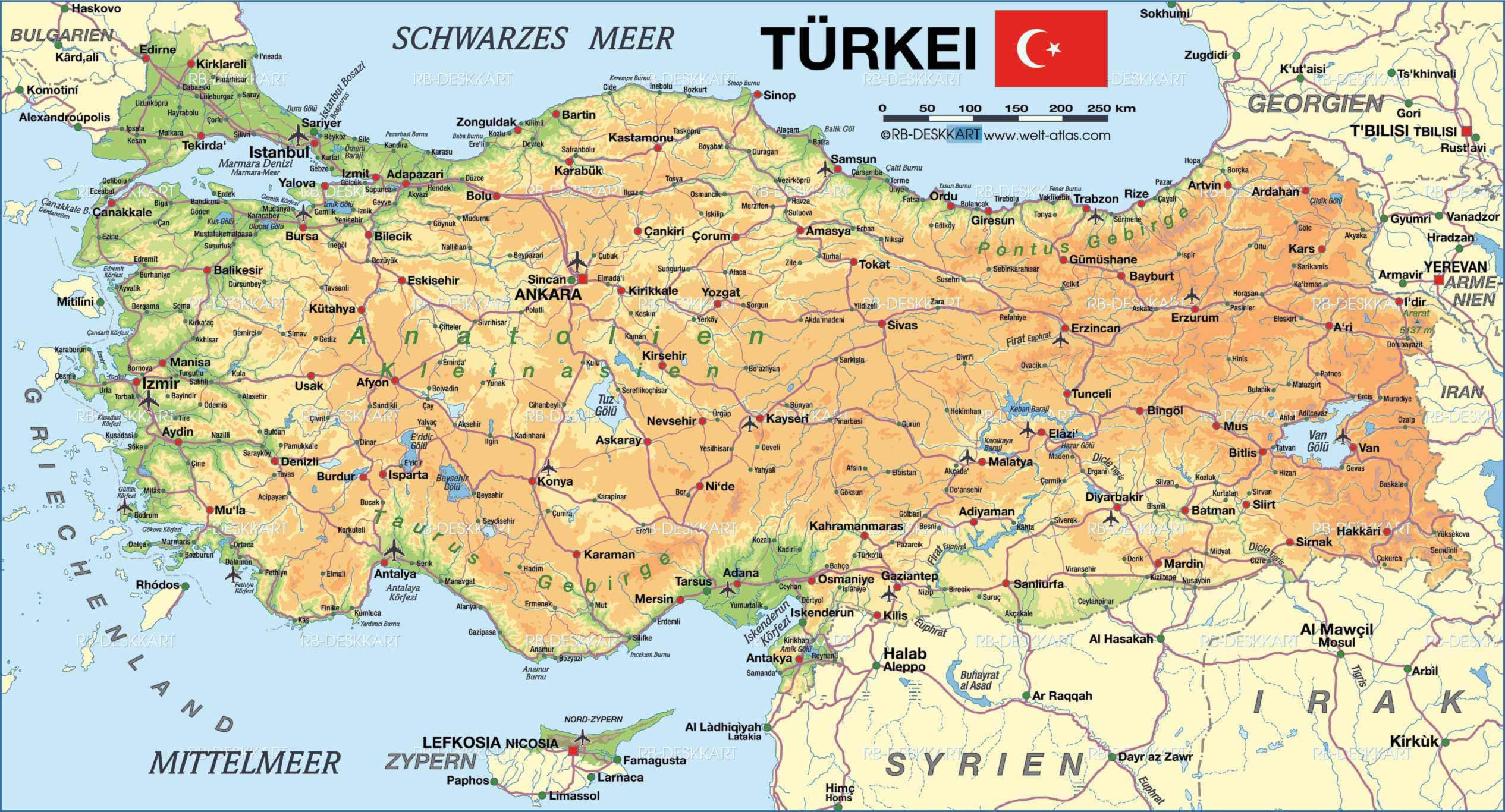 Map Of Turkey Map Pictures - Turkey map