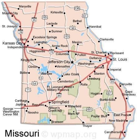 Missouri Map Map Pictures