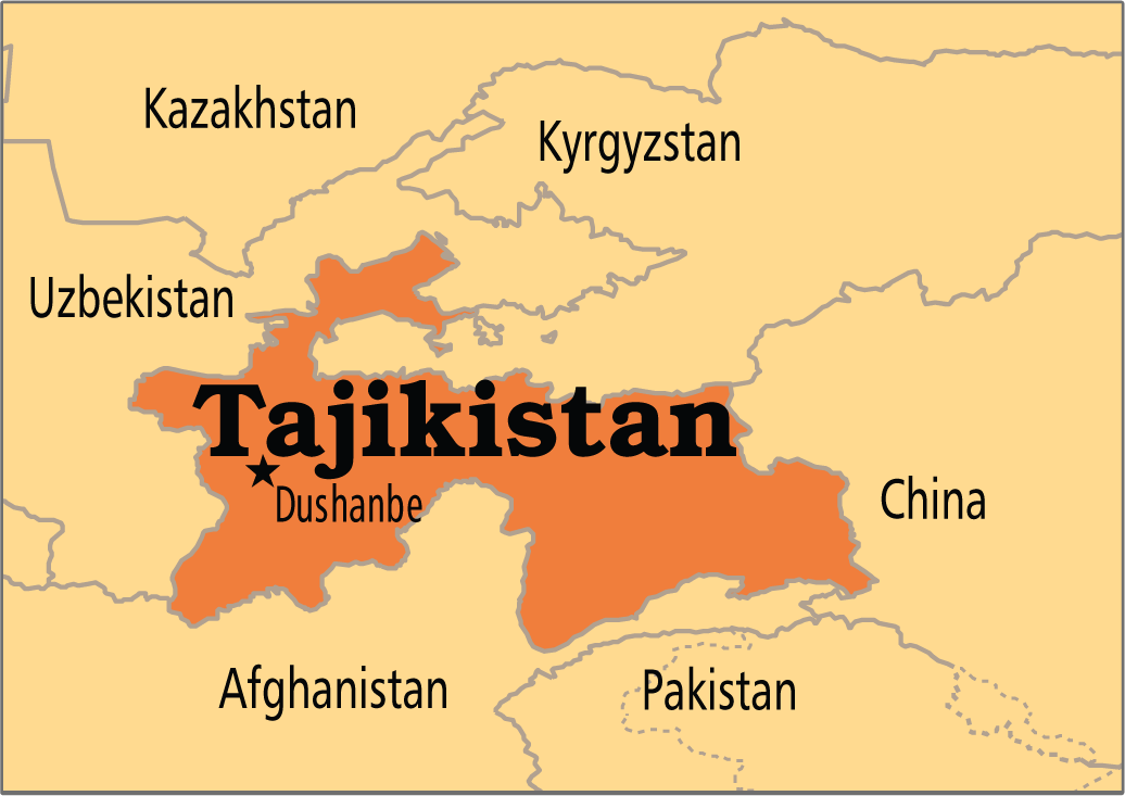 tajikistan map Map Pictures