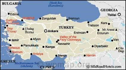 Turkey Cities Map Map Pictures