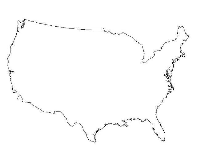 usa map blank - Map Pictures