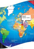 where is egypt on world map