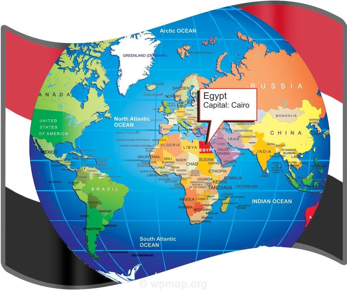 where is egypt on world map - Map Pictures