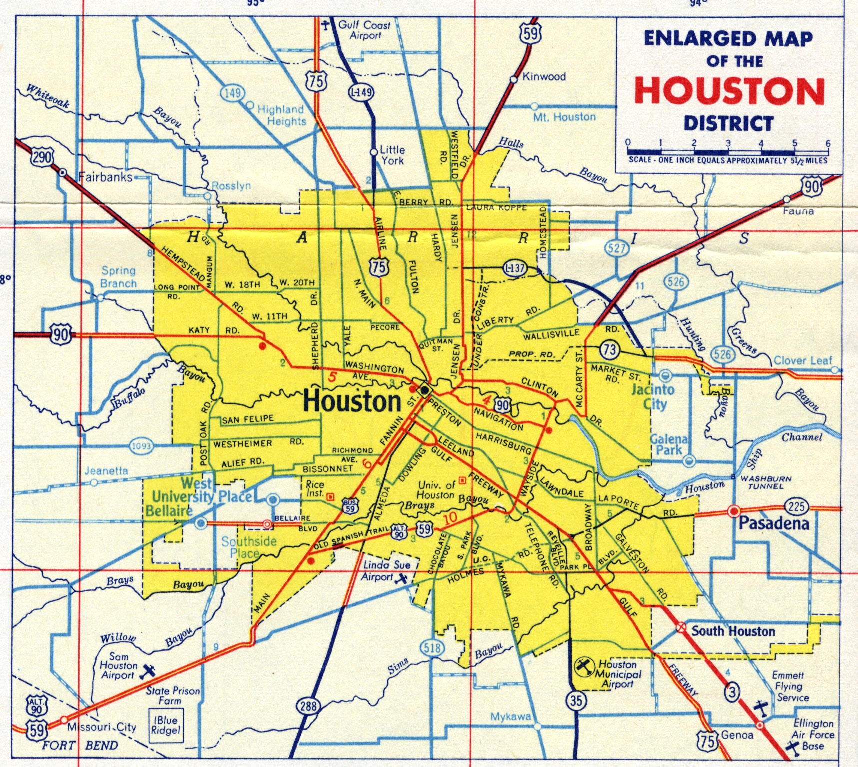 Map of Houston - Road Map of Houston - Satellite Images of ...