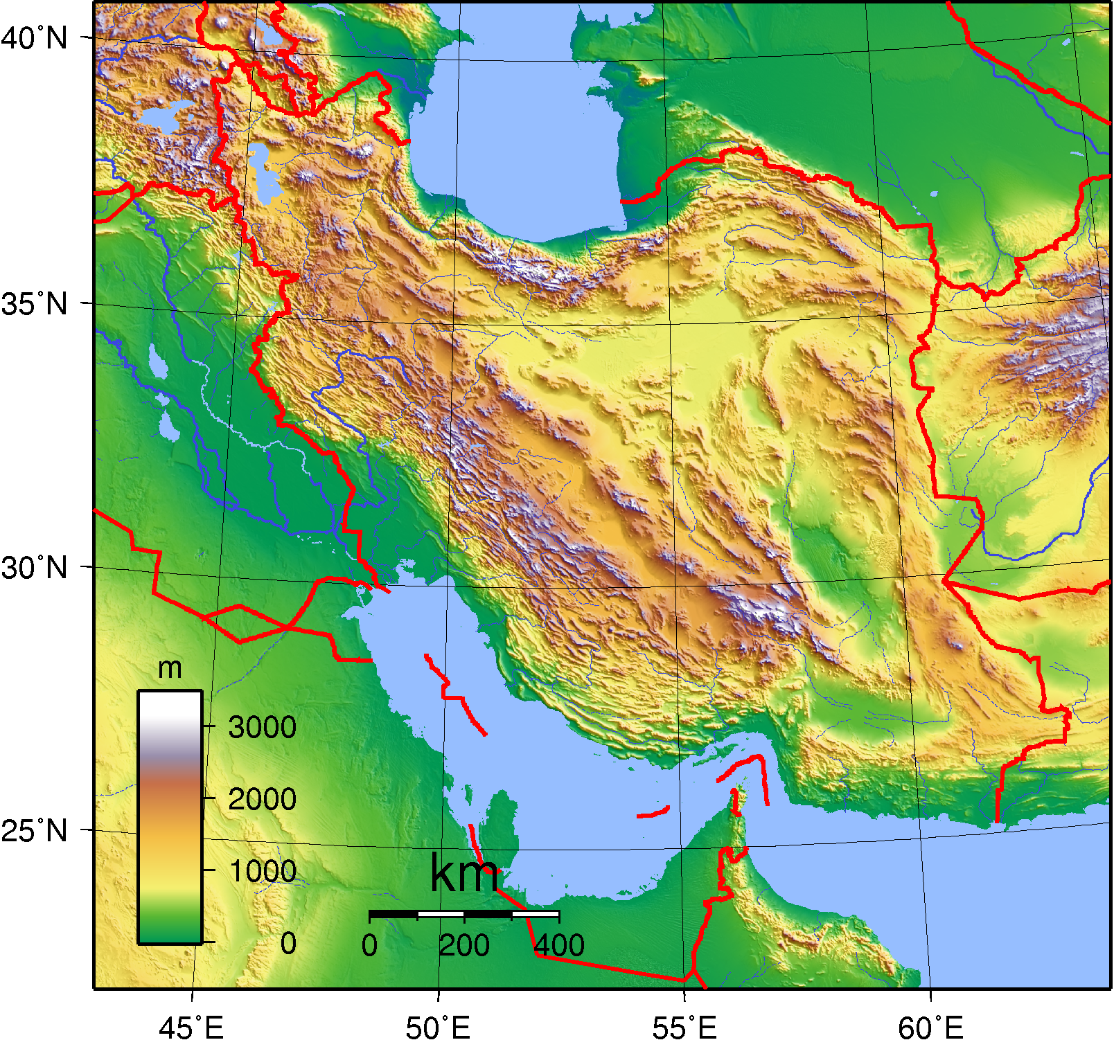 Iran_Topography