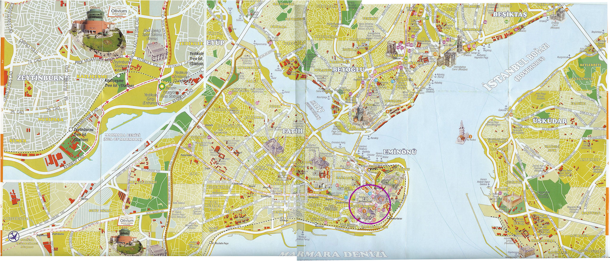 Map Istanbul SmallSide Complete Marked Lg Map Pictures