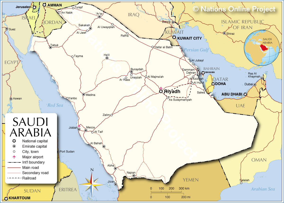 saudi arabia map Map Pictures