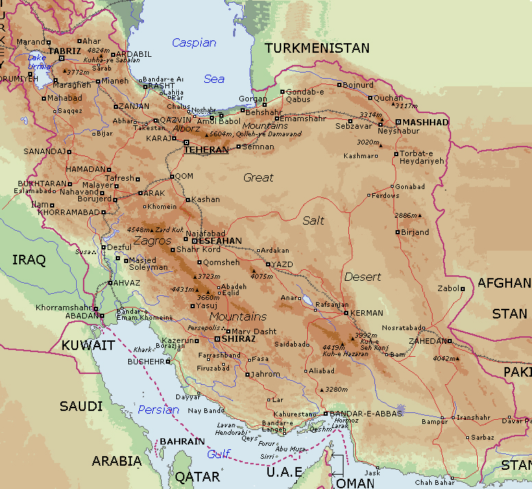 detailed-physical-map-of-iran