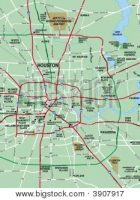 greater houston texas area map stock photo
