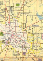historical map houston 1952