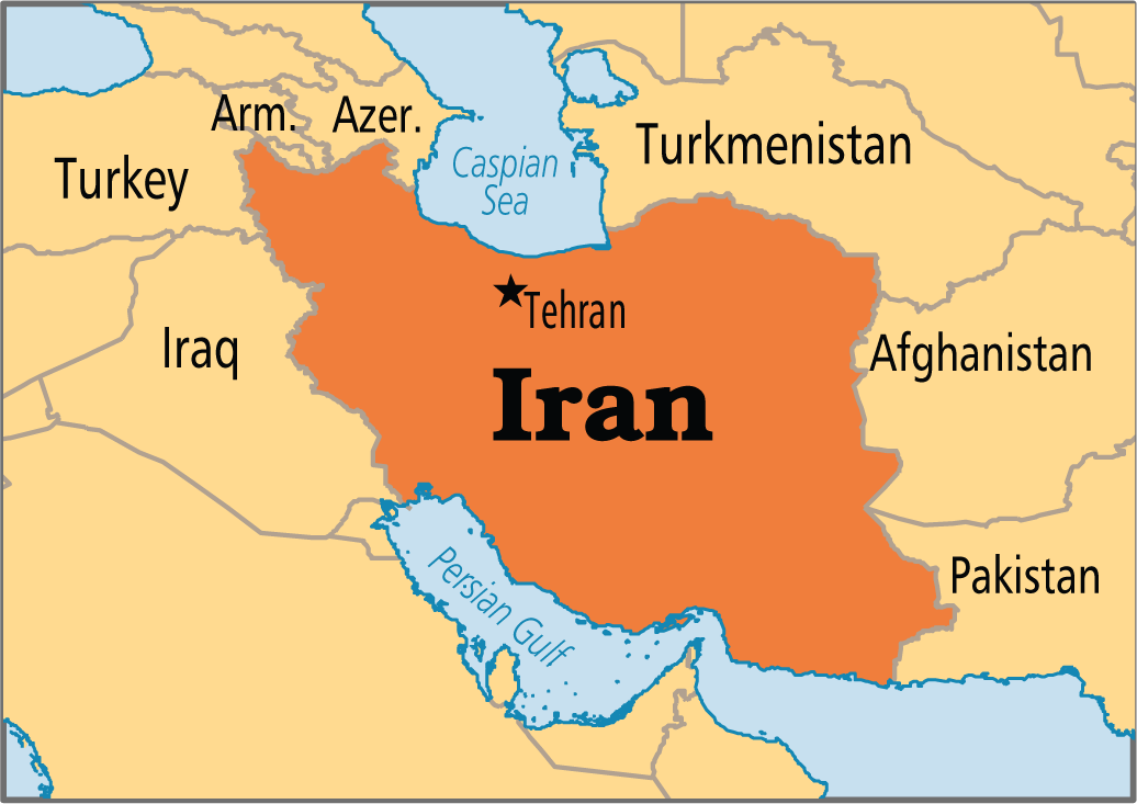 Iran On A Map Map of Iran   Map Pictures Iran On A Map